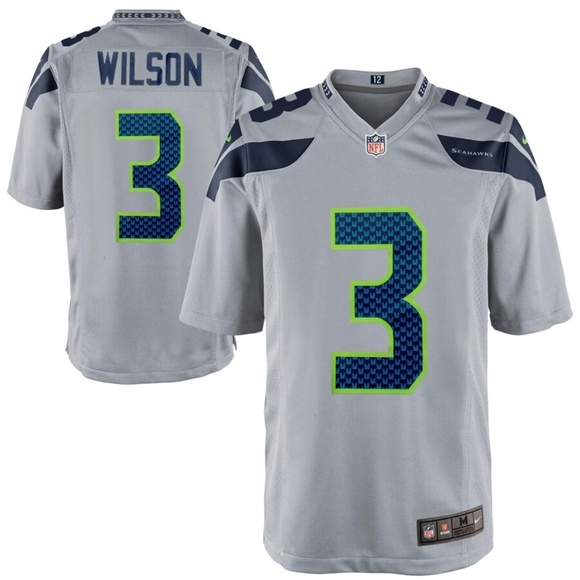 new styles aad18 c828b Mens Seattle Seahawks Russell Wilson Jersey NWT